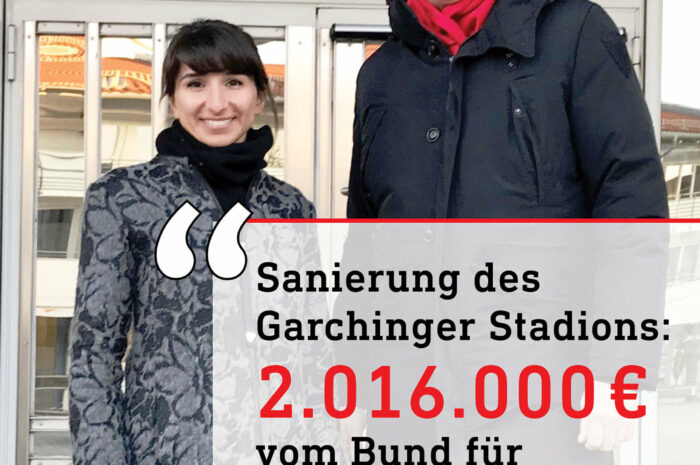 2 Millionen Euro für das Garchinger Stadion