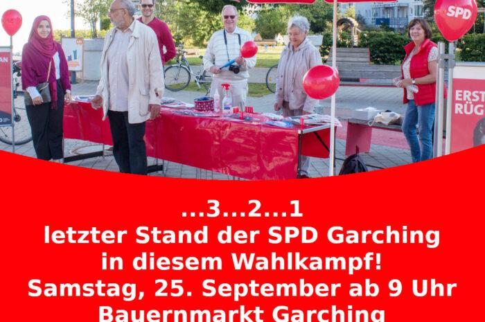 Heute: Letzter Stand der SPD in diesem Wahlkampf